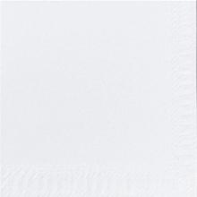 Servet Duni tissue 24x24 cm uni wit 2-laags 1/4 vouw | 8 x 300 stuks