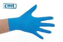 Handschoenen latex gepoederd blauw maat M | 100 stuks