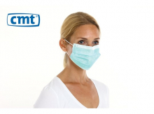 Chirurgisch mondmasker met linten 3-laags airlaid groen | 300 stuks
