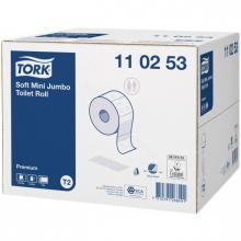 Toiletpapier mini jumbo Tork T2  2-laags zacht  | 12 rol per pak