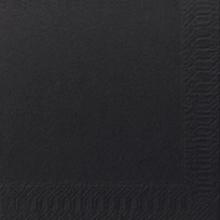Servet Duni tissue 24x24 cm uni zwart 2-laags 1/4 vouw | 8 x 300 stuks