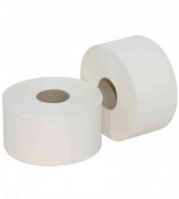 Toiletpapier mini jumbo tissue 2-laags recycled wit | 12 rol per pak