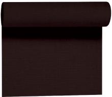 Duni Tête à Tête Evolin tafelloper 41 cm x 24 meter zwart | 4 rol per pak