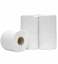 Toiletpapier traditioneel 2-laags 400 vel recycled wit | 10 x 4 rol per pak