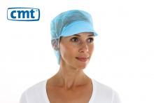 Pet met klep en haaropvang non woven blauw | 10 x 100 stuks