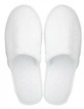 Slippers gesloten badstof wit grote maat | 100 paar