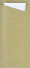Bestekzakjes Duni Ecoecho eco-label met witte servet | 400 stuks