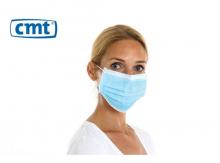 Chirurgisch mondmasker met elastiek 3-laags non woven blauw | 1000 stuks
