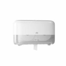 Dispenser toiletpapier coreless twin mid-size T7 wit