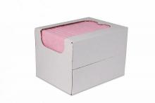 Reinigingsdoek in dispenserdoos, sopdoek rood | 50 stuks per doos