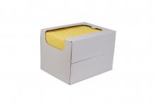Reinigingsdoek in dispenserdoos, sopdoek geel | 50 stuks per doos