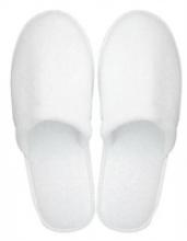 Slippers gesloten badstof wit | 100 paar