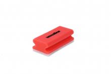 Schuurspons met handgreep rood-wit | 10 stuks