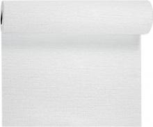 Duni Tête à Tête Evolin tafelloper 41 cm x 24 meter wit | 4 rol per pak