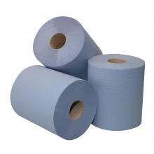 Poetspapier midi Moderna blauw 1-laags 300 mtr x 20 cm   6 rol per pak