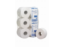 Toiletpapier mini jumbo toilettissue 2-laags 200 mtr | 12 rol per pak