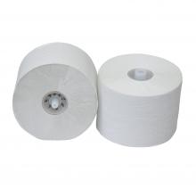 Toiletpapier met dop 150 meter 1-laags recycled wit | 36 rol per pak