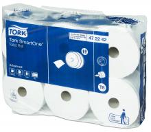 Toiletpapier SmartOne Tork T8 2-laags wit | 6 rol per pak