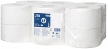 Toiletpapier mini jumbo Tork 1-laags advanced T2 | 12 rol per pak