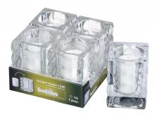 Kaarshouder ReLight Cube inclusief vulling transparant | 4 stuks