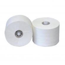 Toiletpapier met dop 100 meter 2-laags recycled wit | 36 rol per pak
