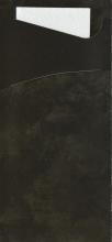 Bestekzakjes Duni Sacchetto zwart met witte servet | 500 stuks