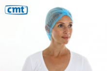 Haarnet baret non woven blauw 50 cm | 10 x 100 stuks