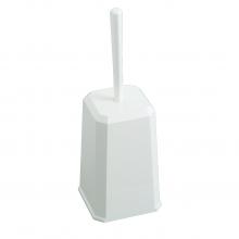Toiletborstelgarnituur gesloten kunststof wit | per stuk
