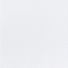 Servet Duni tissue 33x33 cm uni wit 2-laags 1/4 vouw | 10 x 300 stuks