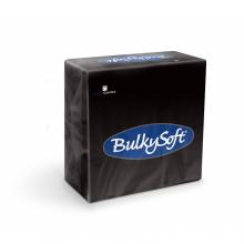 Servet Bulkysoft 33x33 cm zwart 2-laags 1/4 vouw | 24 x 50 stuks