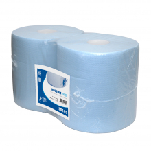 Industriepapier blauw 2-laags 190 mtr x 26 cm   2 rol per pak