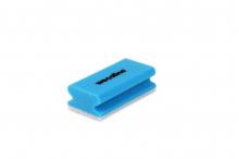 Schuurspons met handgreep blauw-wit | 10 stuks