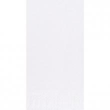 Servet Duni tissue 40x40 cm uni wit 2-laags 1/8 vouw | 4 x 300 stuks