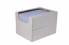 Reinigingsdoek in dispenserdoos, sopdoek blauw | 50 stuks per doos
