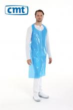 Schort op rol geruwd waterdicht 125x80 cm blauw | 5 x 100 stuks