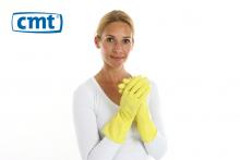 Huishoudhandschoen rubber geel maat L | 12 paar