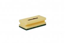 Schuurspons met handgreep geel-groen | 10 stuks
