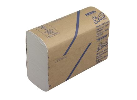 Handdoeken multifold 1-laags wit 20x24 cm 16x250 doekjes